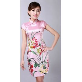 89bedf0b829 Robe satin chinoise - korea cute