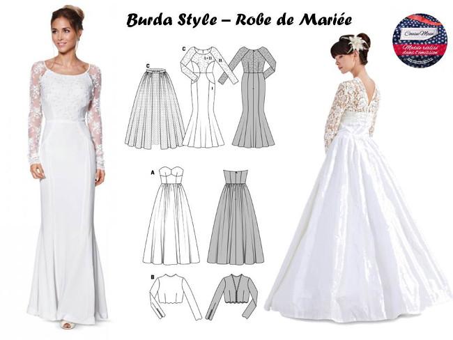 c0e06b32621 Patron robe de mariée gratuit - korea cute