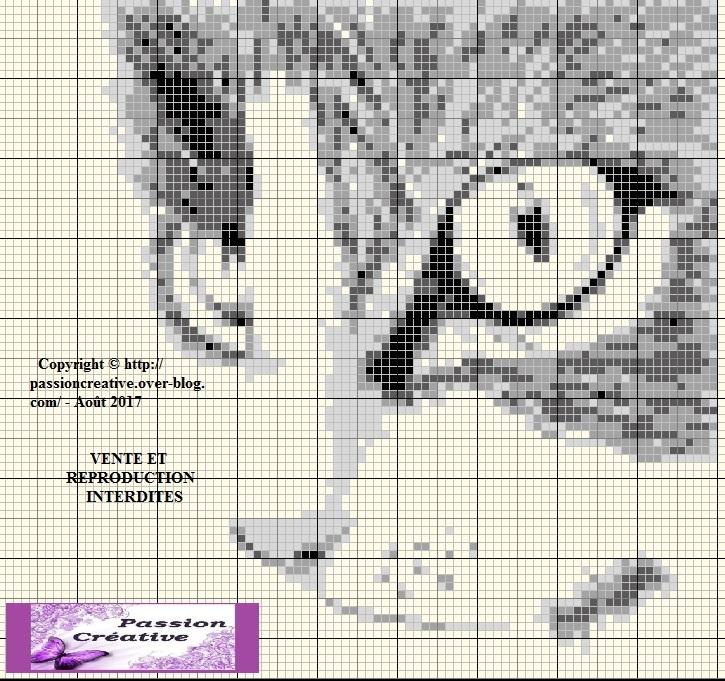Grille gratuite point de croix chat noir